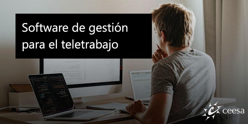 Software de gestión para el teletrabajo